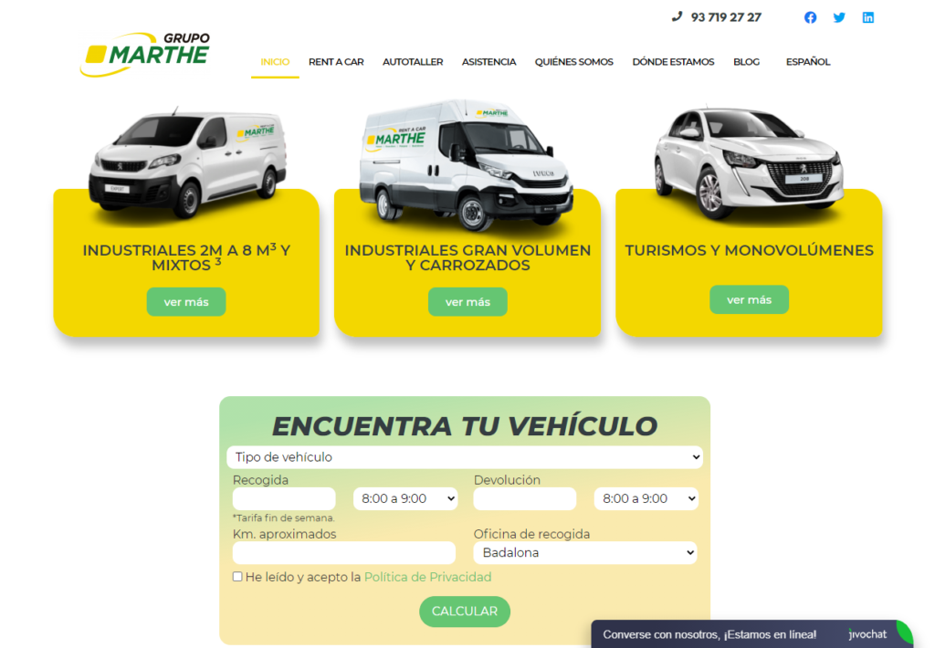 web Grupo Marthe